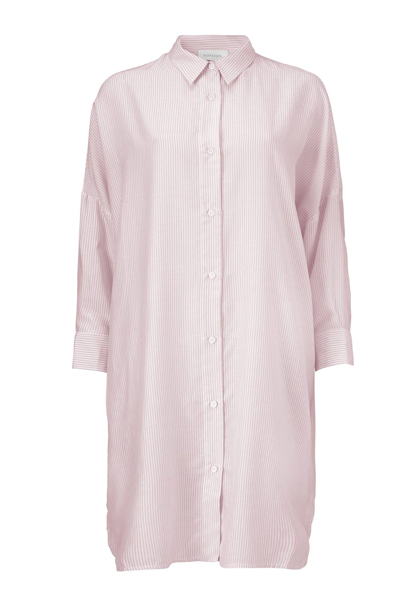 DUKE SHIRT DRESS - PINK STRIPE