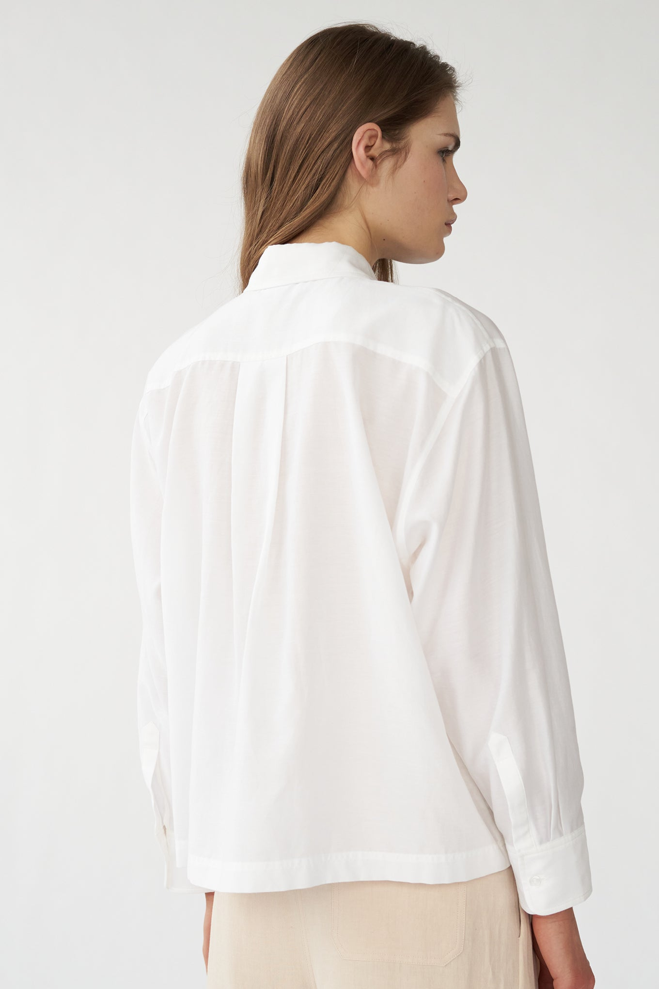 Sophie Shirt - White - Silk/Cotton