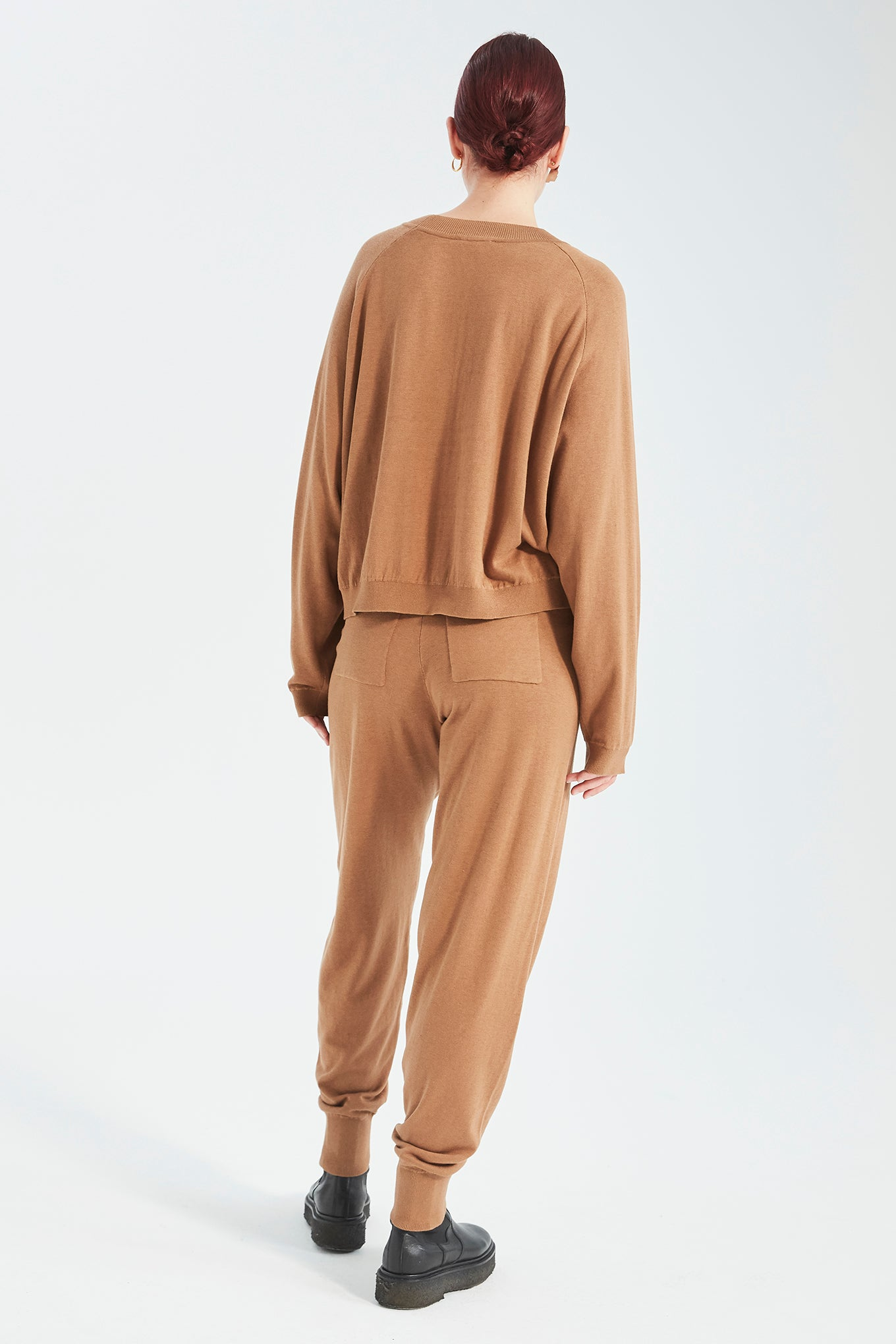 Zana Knit Pants - Milk Chocolate - Silk/Cotton