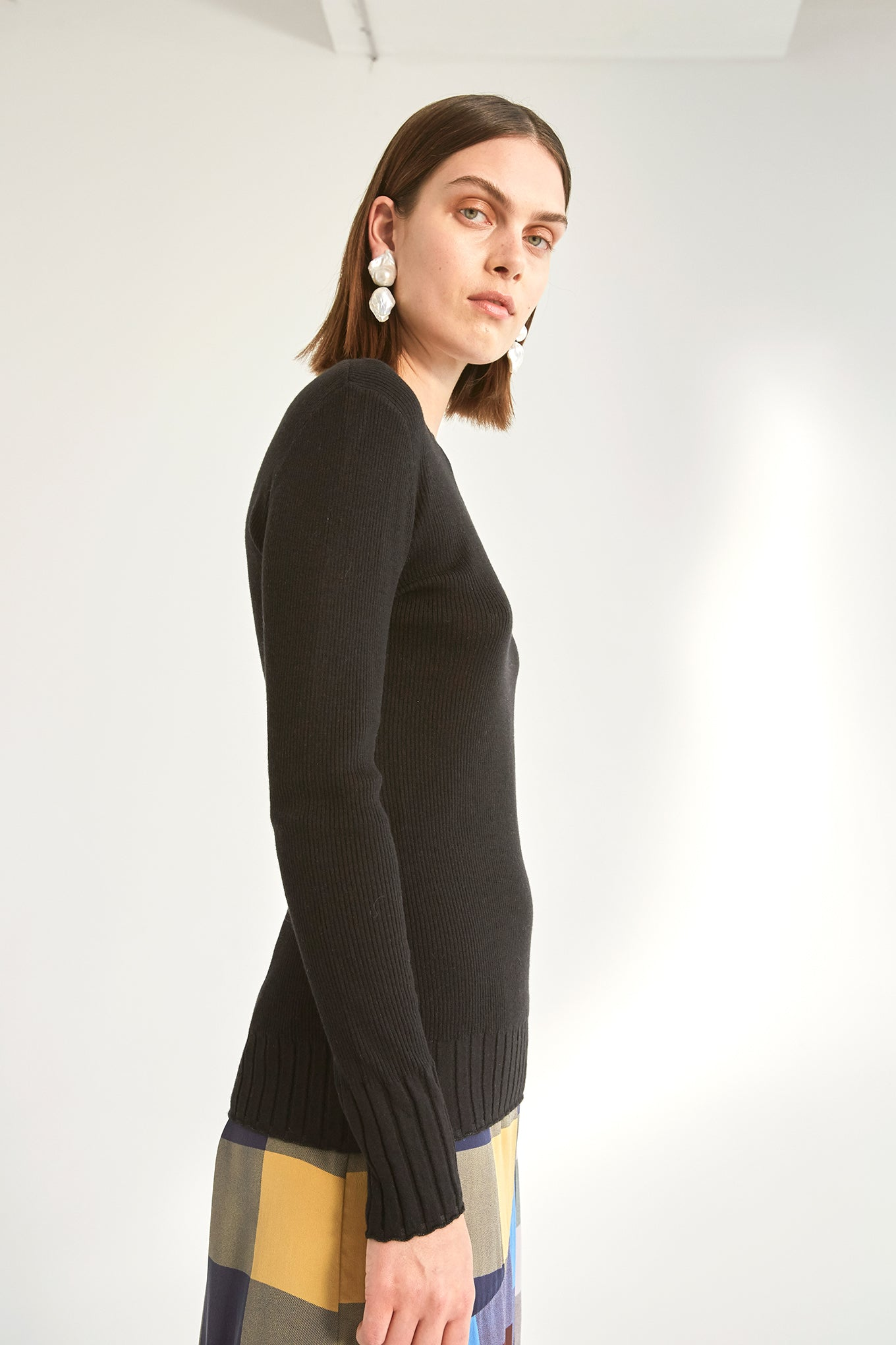 Billie Knit - Black - Silk/Wool