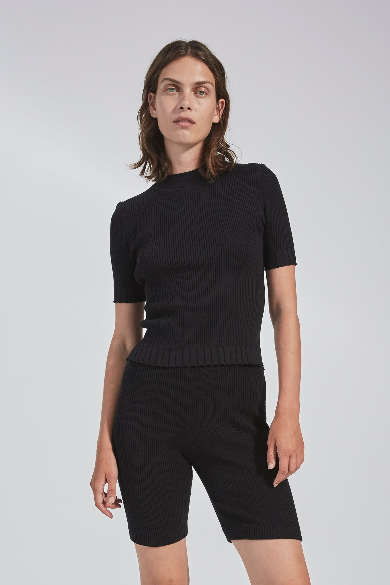 Billie SS Knit - Black - Silk/Cotton