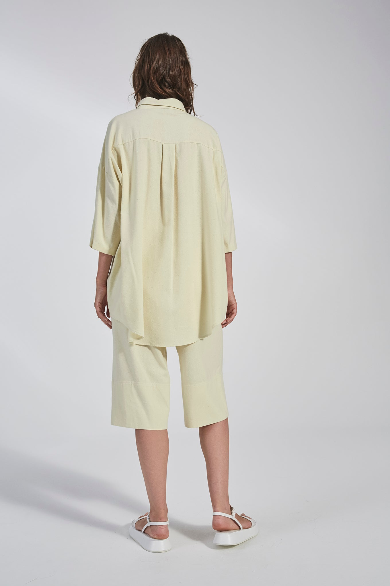 Cami Shorts - Lemon - Raw Silk