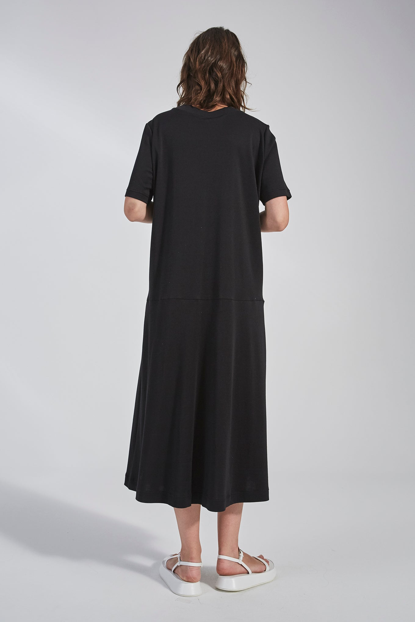 Holden Jersey Dress - Black - Silk/Cotton Jersey