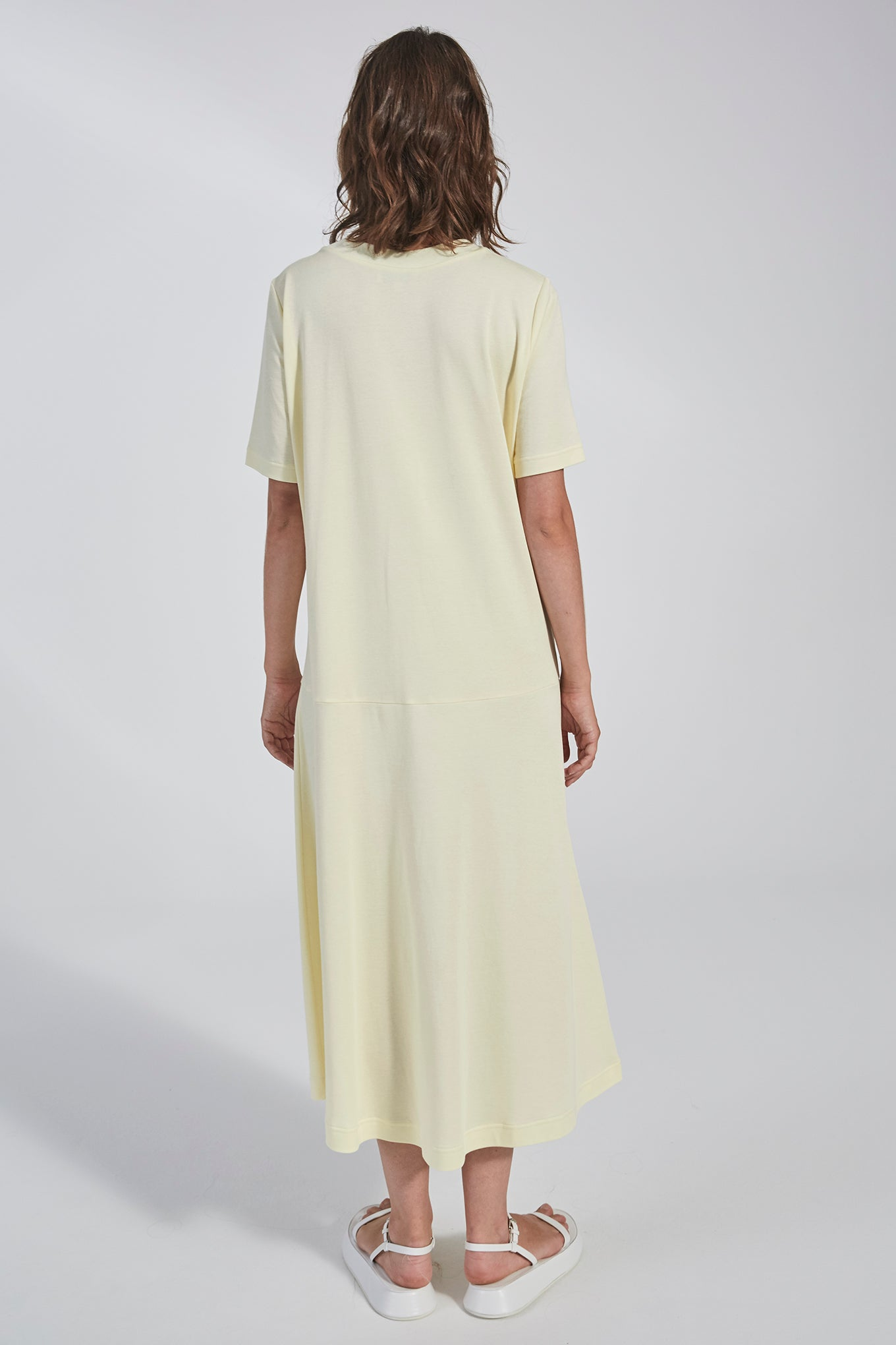 Holden Jersey Dress - Lemon - Silk/Cotton Jersey