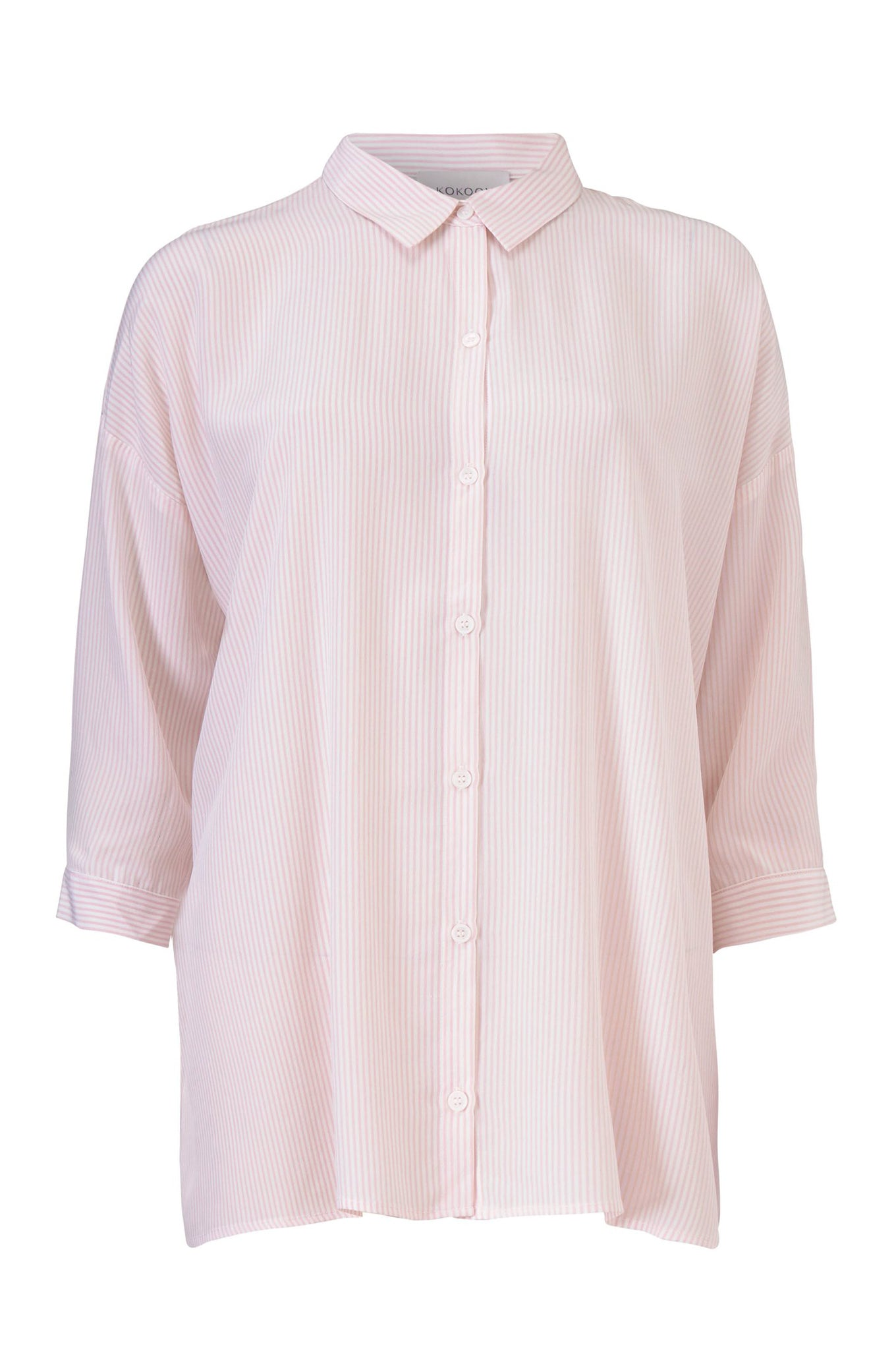 BIANCA STRAIGHT SHIRT - PINK STRIPE