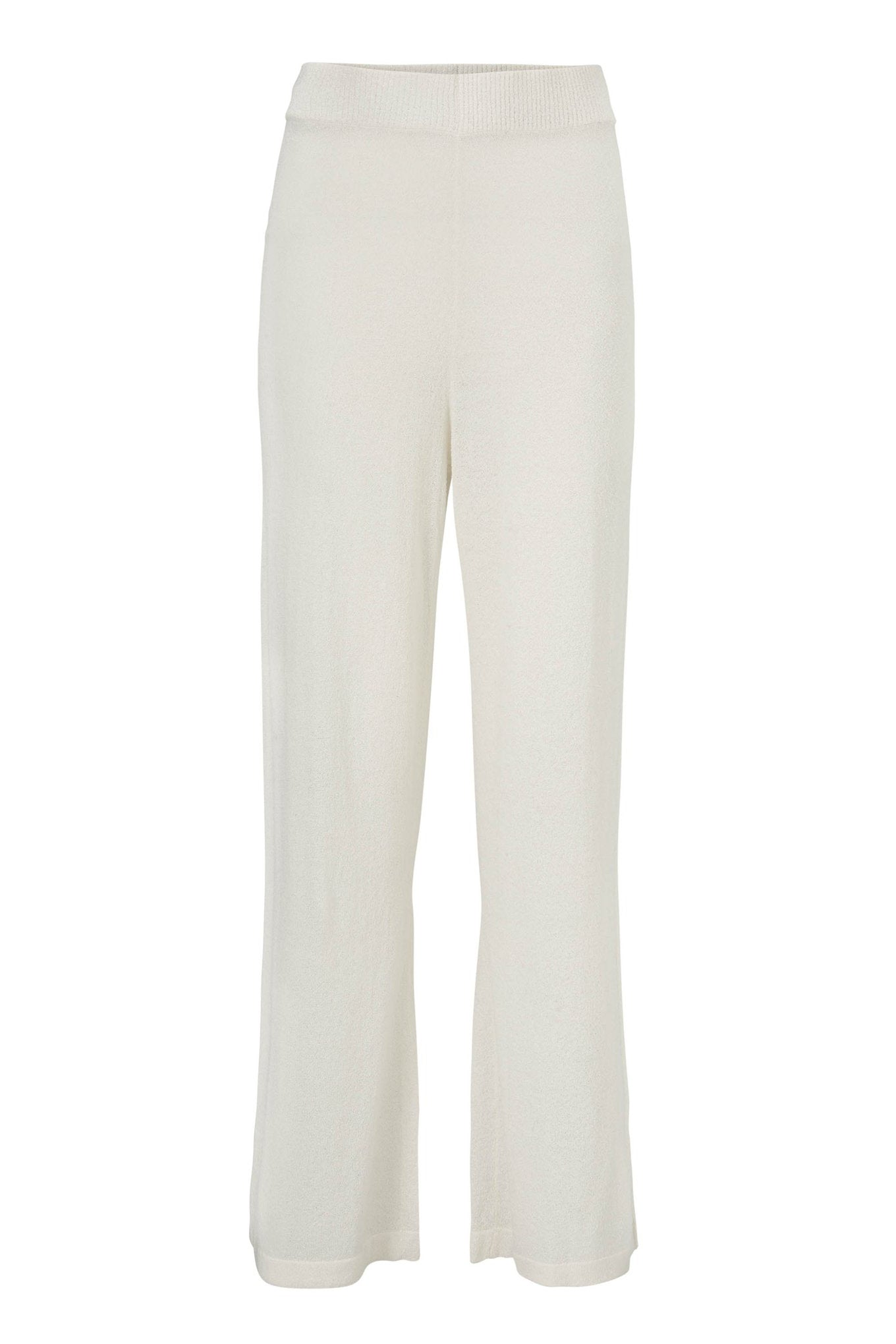 Stella Knit Pant - Chalk - Silk/Knit