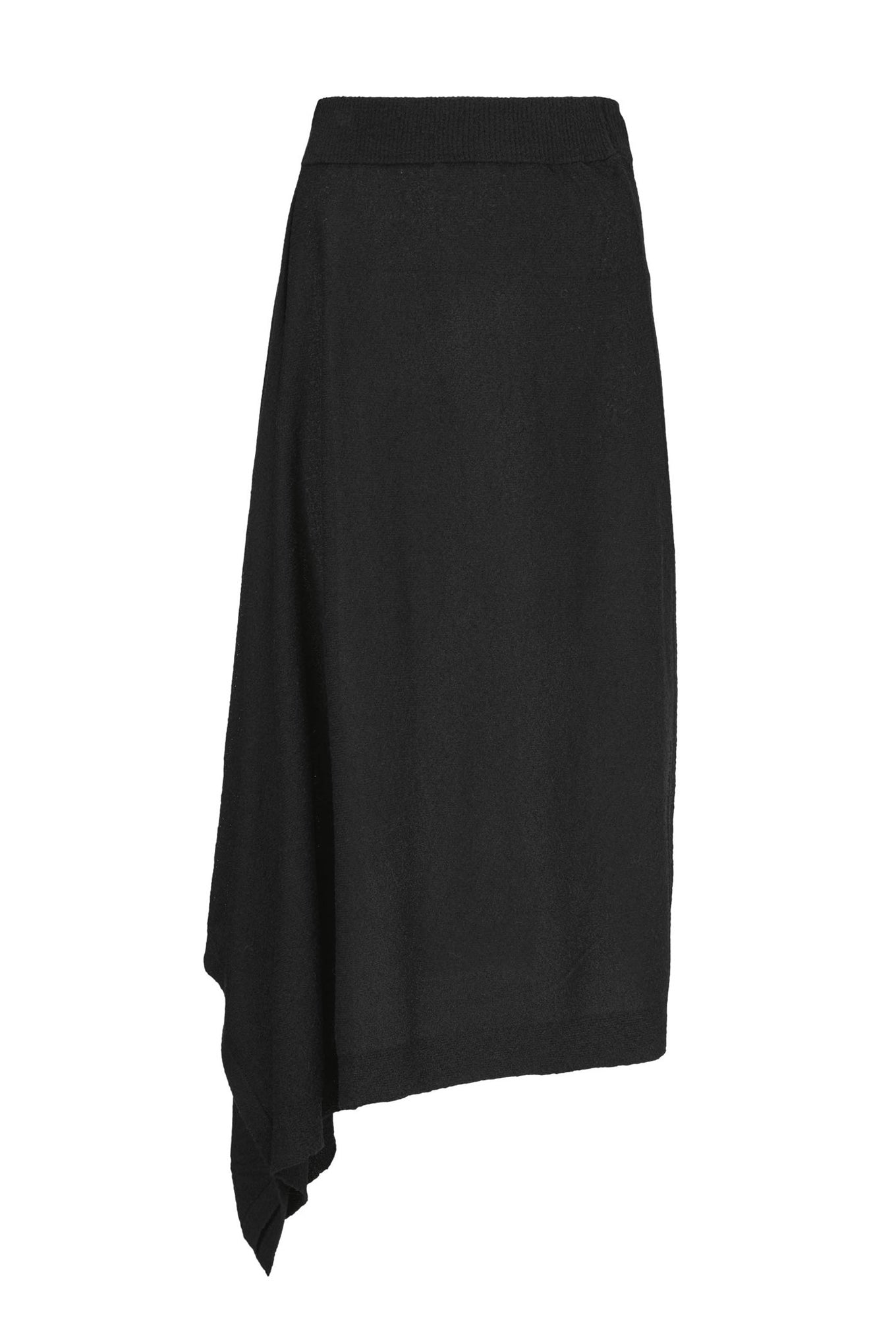Nina Knit Skirt - Black - Silk Mix
