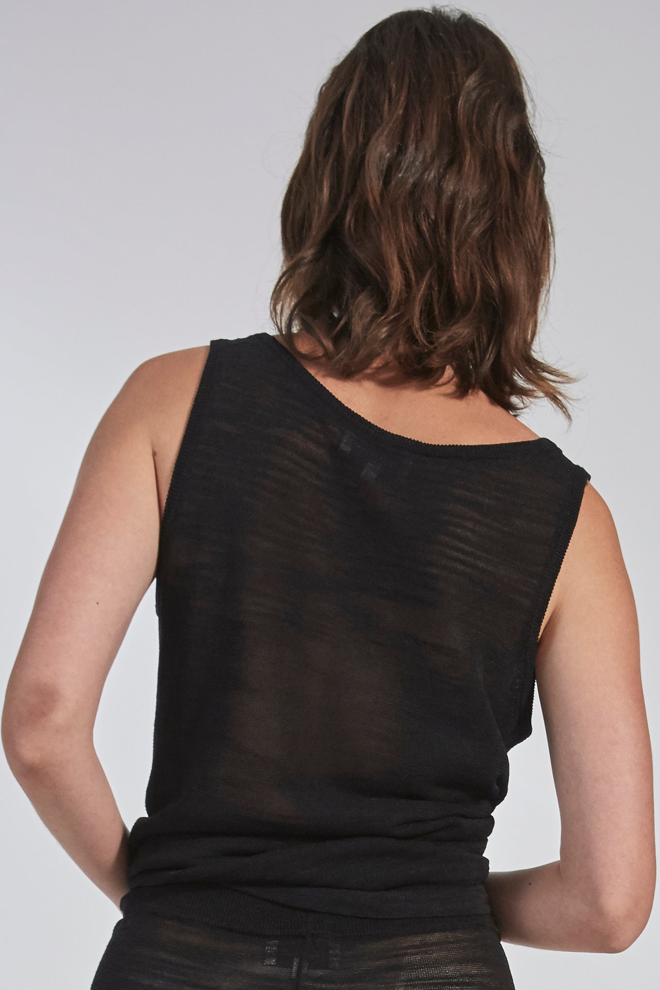 Scato Knit Tank - Black - Silk/Linen/Viscose