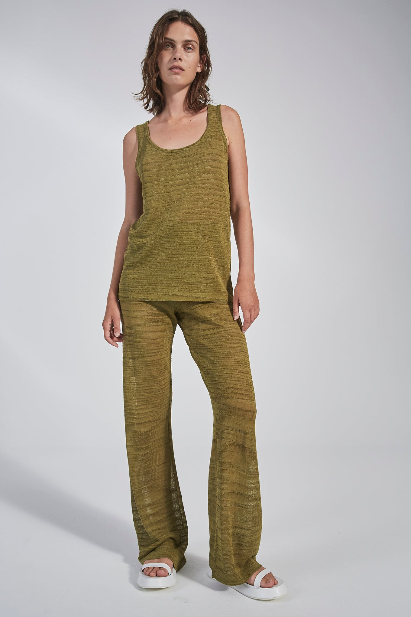 Sima Knit Pants - Utility - Silk/Linen/Viscose