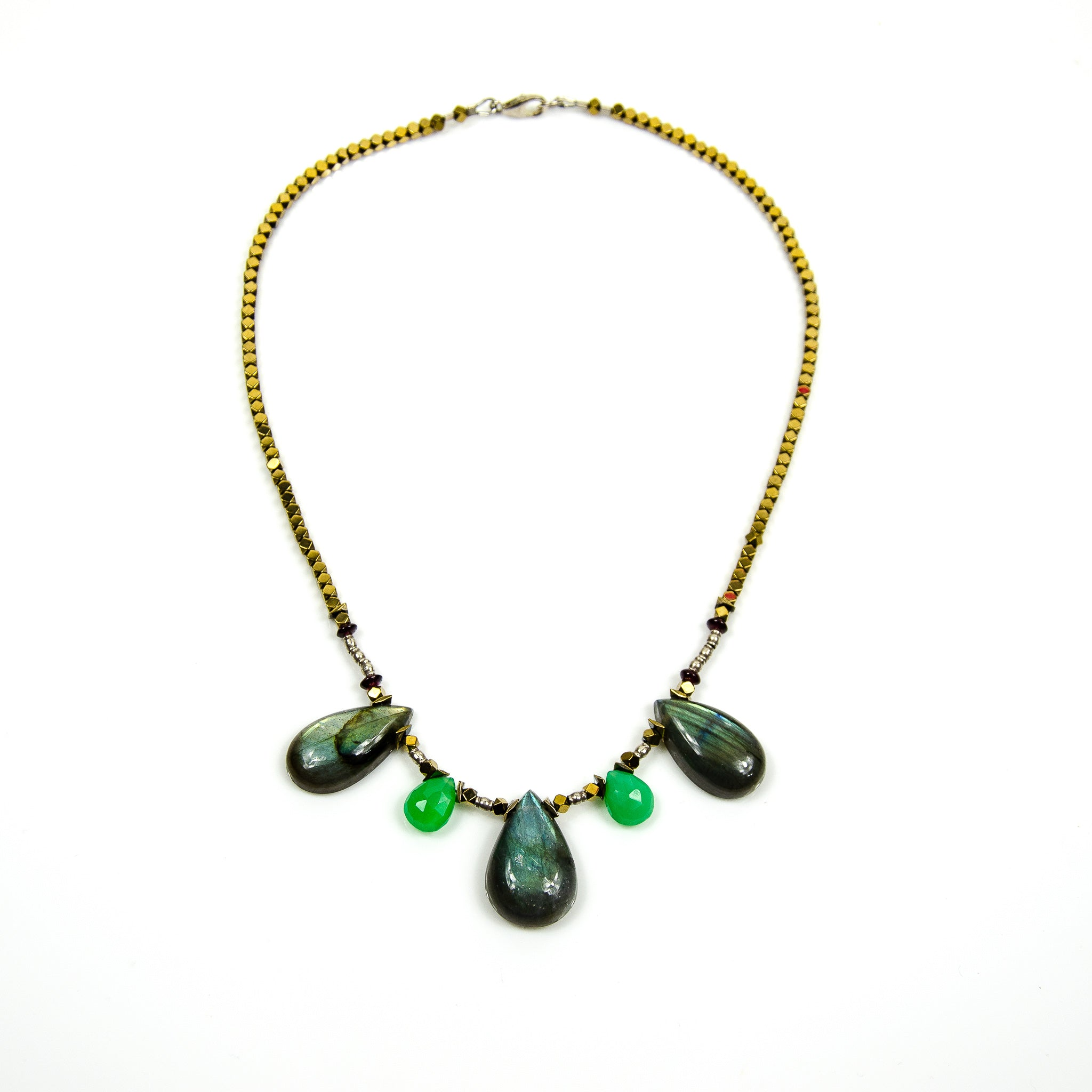 Teardrop - Labradorite and Chrysoprase