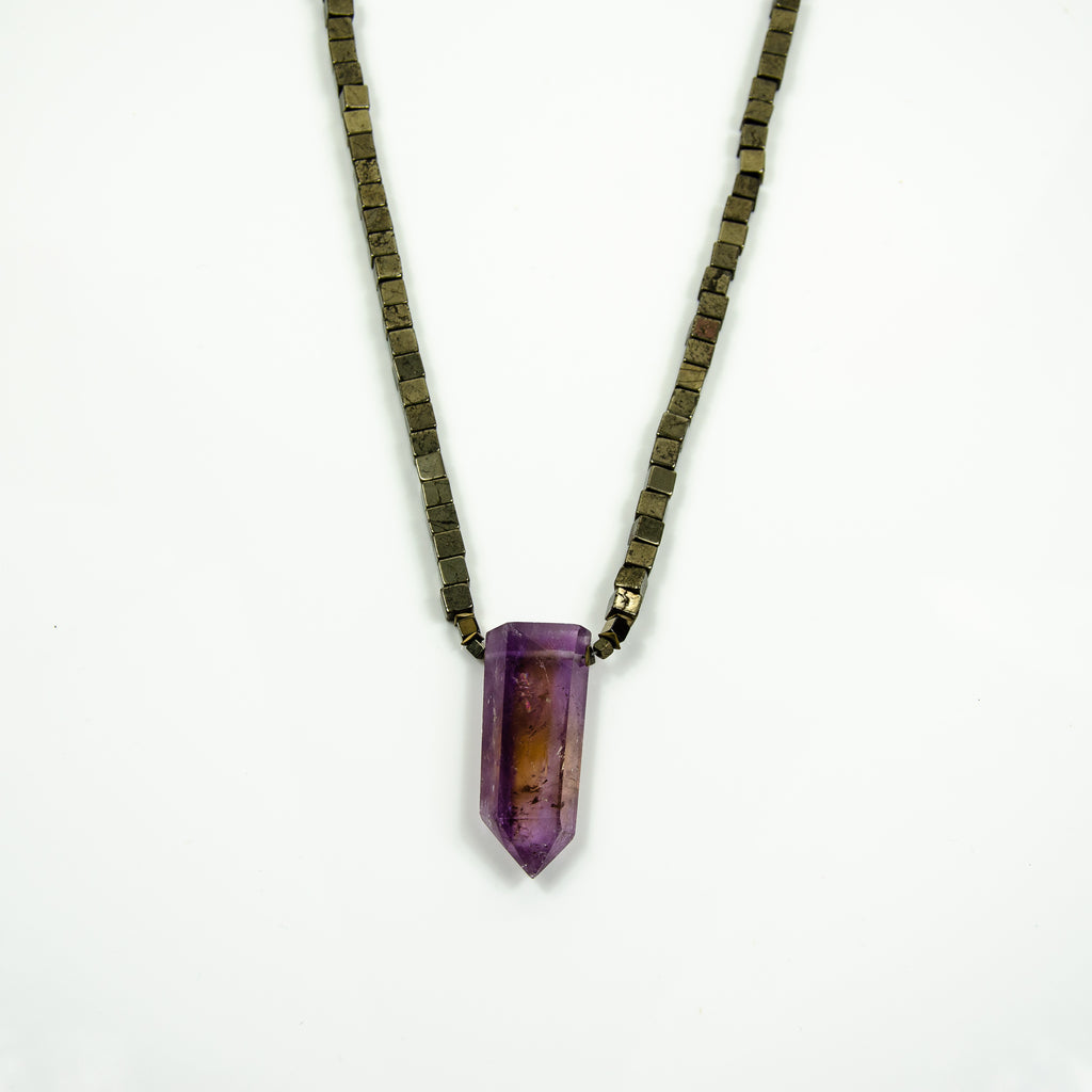 Mens - Ametrine and Pyrite