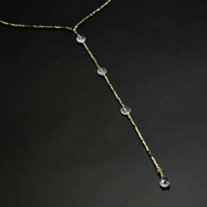 The Drop 2 - Quartz and Electroplated Gold Hematite