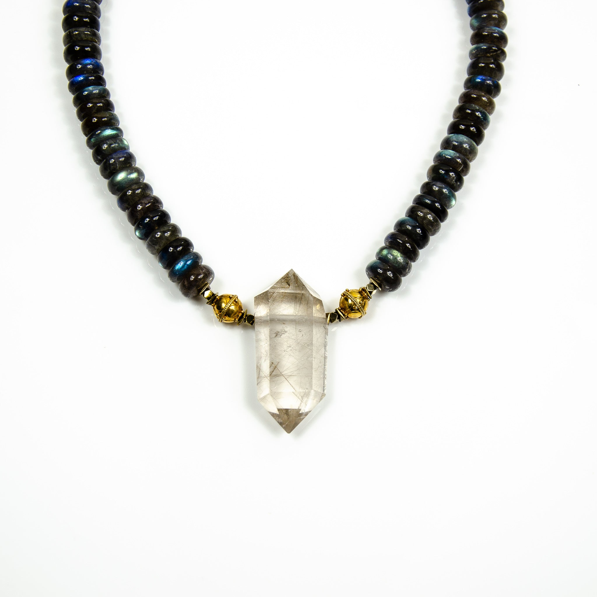 Union - Rutilated smokey quartz with labradorite