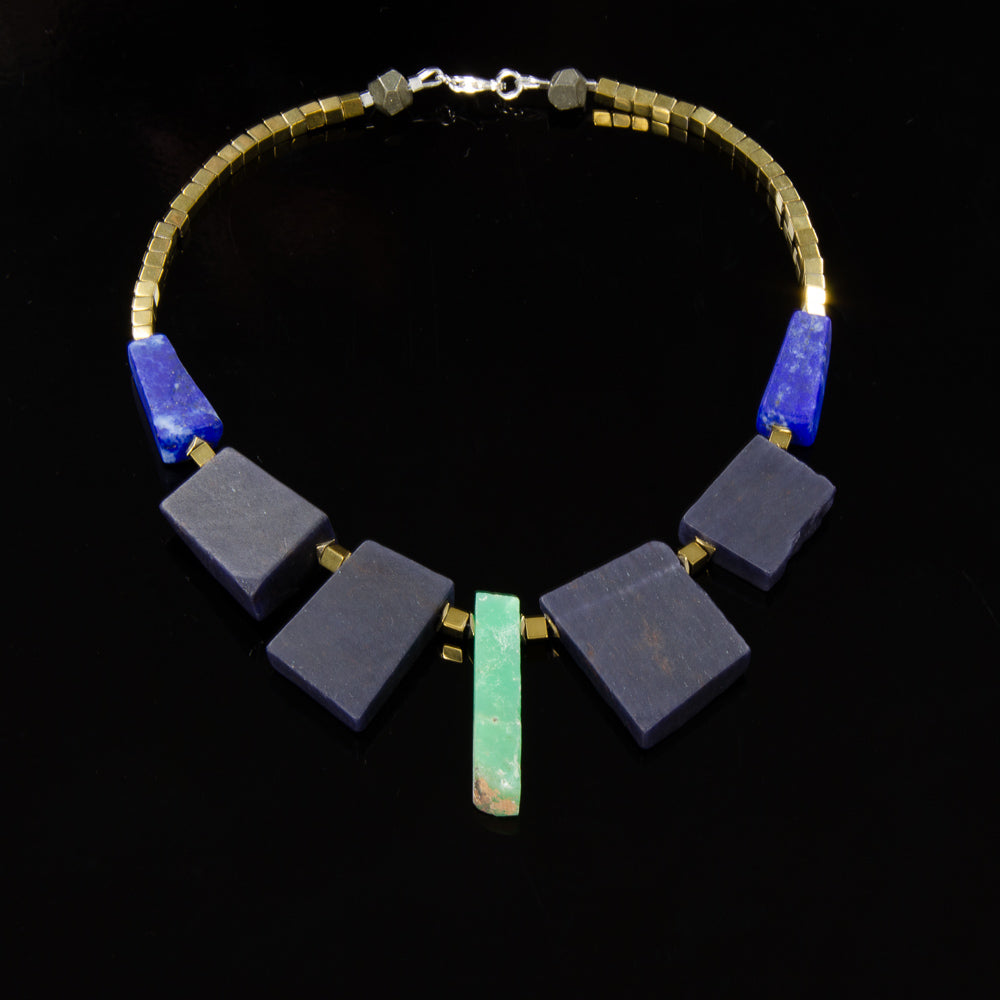 Warrior - Chrysoprase, Blue Aventurine and Lapis Lazuli