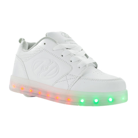 FLASH-LIGHTS-Youth Girls Sz 13,1,4,5 Rechargeable Lite Up 4 Ways Athletic Shoes
