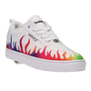 WHITE/RAINBOW FLAMES