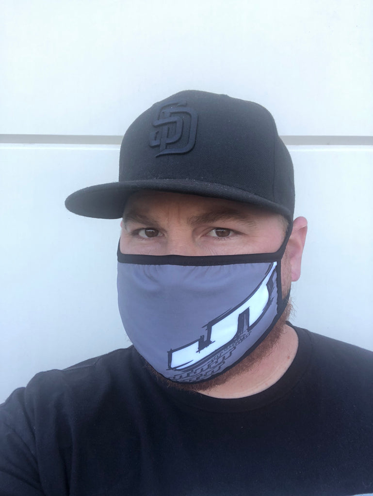 JT Racing Gray Face Mask