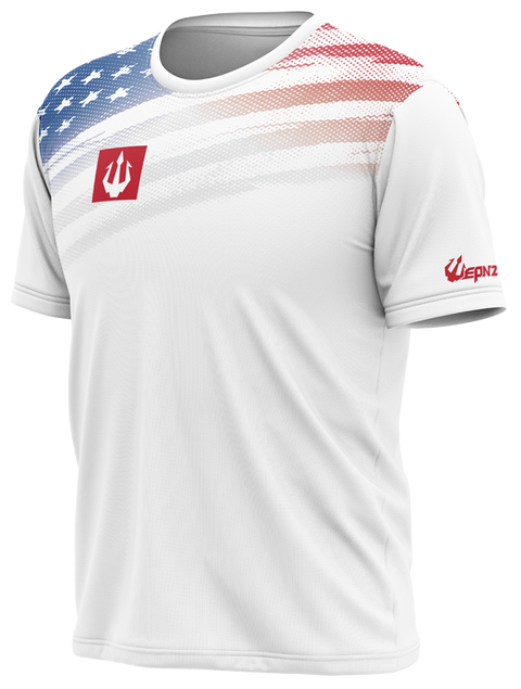 *IN STOCK* Wepnz USA White Tech Shirt