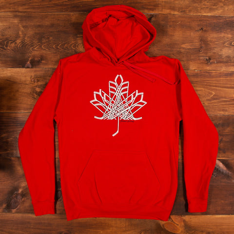 Hockey Stick Maple Leaf Hoodie
