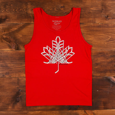 Hockey Stick Maple Leaf - Tank Top
