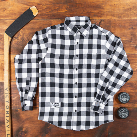 Nomad Hockey Black & White Flannel shirt