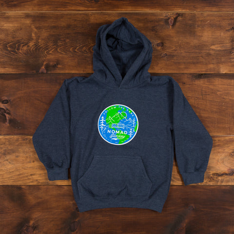 YOUTH Worldwide Nomad Hoodie - Heather Navy