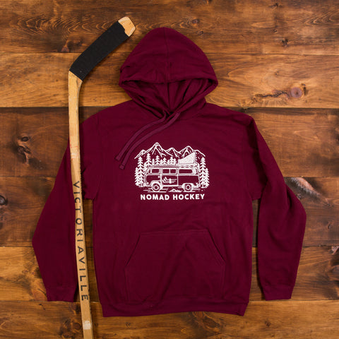 Road Trip Hoodie - Maroon/Jet Black Heather