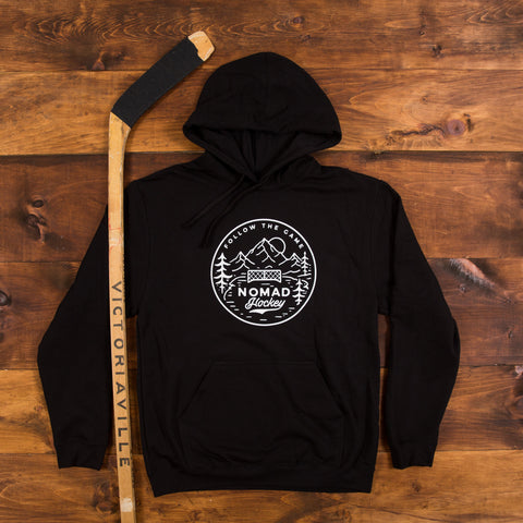 Nomad Hockey Hoodie -The Original - Black/Heather Navy