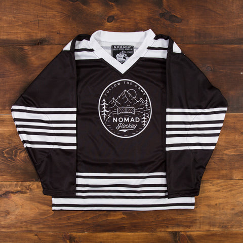 YOUTH Nomad Hockey Jersey - Black/White