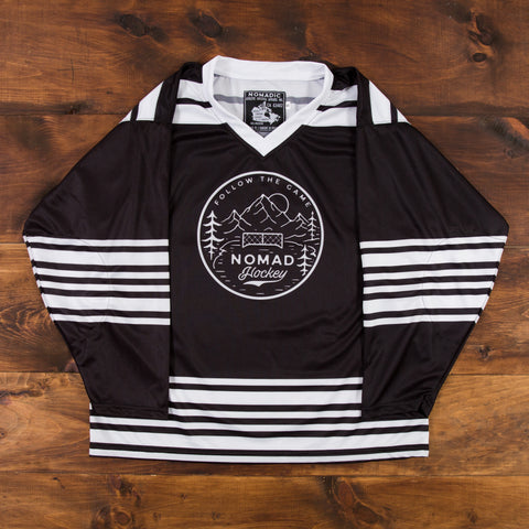 Nomad Hockey Jersey - Black/White/Red