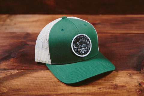 Snapback Trucker Hat - Green/Biscuit