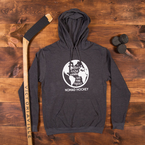 Fight Global Warming Hoodie - Heather Grey