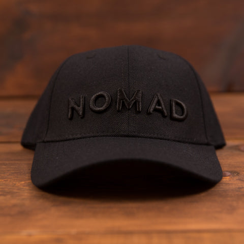 Nomad Curved Hat - Black on Black