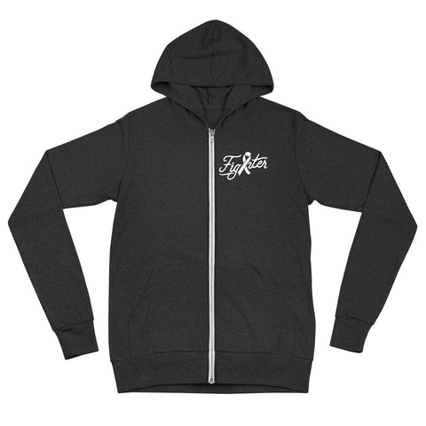 Unisex Cancer Fighter Zipup hoodie