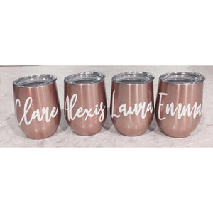 Personalised Stainless Steel Wine/Coffee Cup