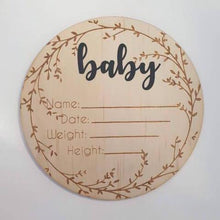 Load image into Gallery viewer, Baby Birth Announcement Plaque