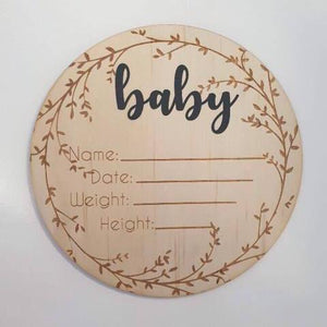 Baby Birth Announcement Plaque