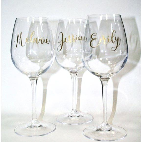 Personalised Red Wine Glass