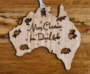 Australia Map Christmas Decoration