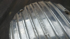 Harley Finned 80ci OEM Chrome 3 Hole Derby FXR