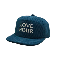Load image into Gallery viewer, Fat Blue Corduroy Logo Snapback