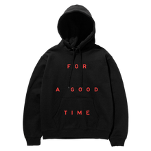 Load image into Gallery viewer, GOOD TIME Black Hoodie