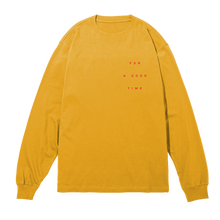 Load image into Gallery viewer, GOOD TIME Gold Long Sleeve