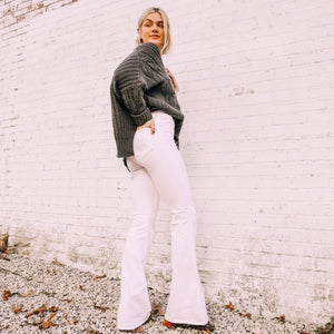 Olivia May White Cello Chic Bell Bottoms - Front Porch Boutique