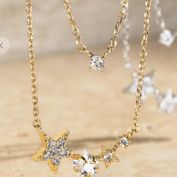 Seeing Stars Gold Cluster Necklace