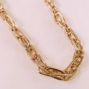 Lucy Cable Gold Chain Necklace - Front Porch Boutique