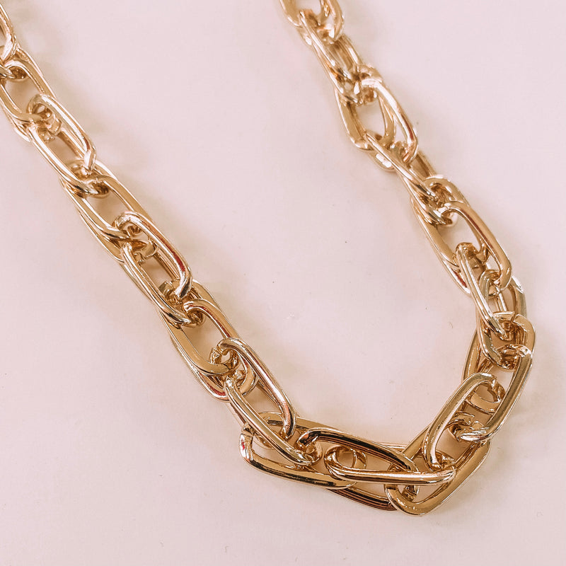 Lucy Cable Gold Chain Necklace