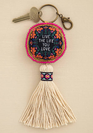 Mantra Keychain Live The Life