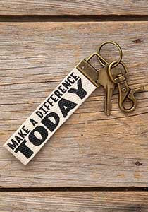 Canvas Key Fob Make A Difference - Front Porch Boutique