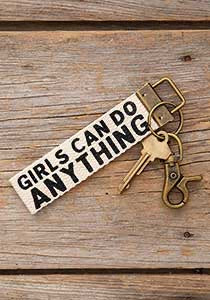 Canvas Key Fob Girls Can Do Anything